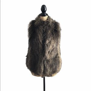 H&M Brown Faux Fur Vest